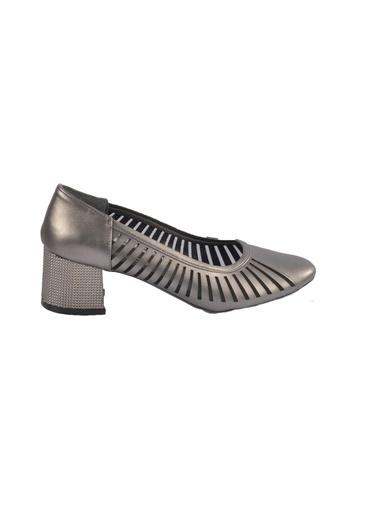 Maje 2127 Ten Kadın Topuklu Ayakkabı Gümüş